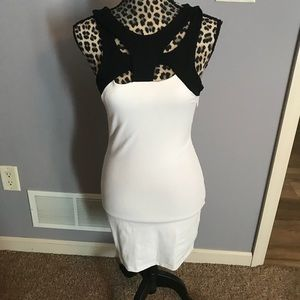 Black and white Bebe dress